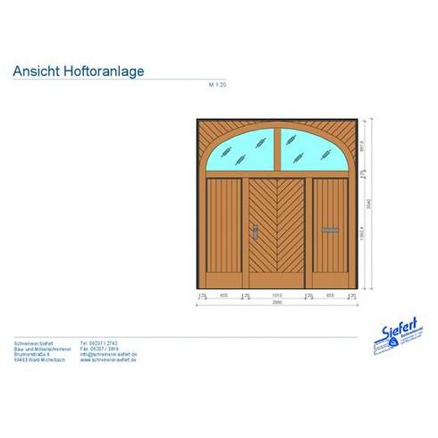 Planungsentwürfe - Hoftore, Holztore und Einfahrten nach Maß in der Rhein-Main-Neckar-Region